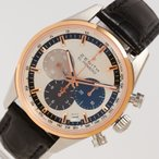 ゼニス ZENITH エルプリメロ  クロノマスター 51.2150.400 シルバー 自動巻き メンズ 腕時計 中古