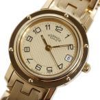 エルメス HERMES クリッパー CL4.285 クォーツ 金無垢 シャンパン レディース 腕時計 中古