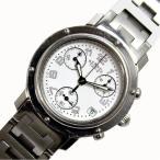 エルメス HERMES クリッパー クロノグラフ CL1.310 クォーツ ホワイト レディース 腕時計(中古)