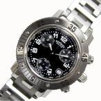 エルメス HERMES クリッパーダイバー クロノグラフ CL2.310 クォーツ ブラック メンズ レディース 腕時計(中古)