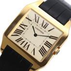 カルティエ Cartier サントスデュモン LM W2006851 手巻き 金無垢 メンズ 革ベルト ウォッチ 腕時計(中古)