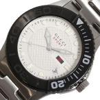 グッチ GUCCI G-タイムレス YA126250 クォーツ ホワイト メンズ ウォッチ 腕時計(中古)