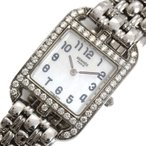 エルメス HERMES ケープコッド CC1.230 クォーツ ダイヤベゼル シェル レディース 腕時計(中古)