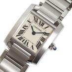 カルティエ Cartier タンクフランセーズSM W51008Q3 クォーツ レディース 腕時計(中古)
