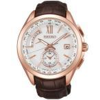 セイコー ブライツ SAGA252 メンズ 腕時計 ピンクゴールド チタン フライト エキスパート デュアルタイム SEIKO ソーラー電波時計 新品