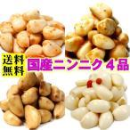 国産にんにく漬け物セット(梅肉・キムチ・薬膳・たまり)各100g×4 送料無料メール便