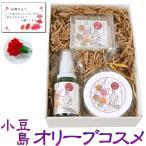 母の日ギフト 小豆島オリーブオイル コスメギフトセット (カーネーション&母の日カード付)