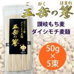 【産直】讃岐もち麦ダイシモチ 五岳の譽 麦麺 250g ( 50g×5束 ) 手延べ素麺 そうめん にゅうめん