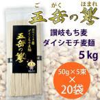 【産直】讃岐もち麦ダイシモチ 五岳の譽 麦麺 5kg(50g×5束×20袋) 手延べ素麺 そうめん にゅうめん