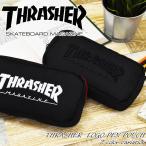 ポーチ ペンケース THRASHER スラッシャー 筆箱 ロゴ おしゃれ 大容量 レディース メンズ 74602501 74602601 メール便送料無料