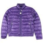 新品同様 モンクレール ACORUS ライトダウンジャケット メンズ 紫 0 パープル ロゴワッペン 国内正規 18年製 MONCLER