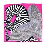 エルメス HERMES ZEBRA PEGASUS ゼブラペガサス カレ20 ナノカレ シルクスカーフ ピンク系 新品同様【Z3-8883】