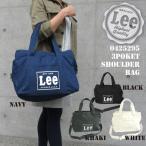 Lee トートバッグ ショルダーバッグ 2way Lee リー トート バッグ トートバック 布 コットン キャンバス A4 トート 手提げバッグ 黒