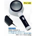 ルーペ 拡大鏡 LEDライト付き ライトルーペ(ACアダプター接続) CD-261AC
