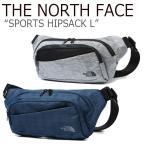 ノースフェイス ウエストポーチ THE NORTH FACE メンズ レディース SPORTS HIPSACK L スポーツ ヒップサック ネイビー メランジグレー NN2HJ59B/C バッグの画像