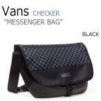 バンズ バッグ VANS チェッカーボード メッセンジャーバッグ CHECKERBOARD MESSENGER BAG BLACK ブラック VN0A3DA8BLK バッグ