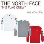 ショッピングNORTH ノースフェイス トップス THE NORTH FACE メンズ M'S FLAG CREW フラッグ クルー White Gray Red NM5MI53D NM5MI53B NM5MI53C ウェア