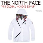 ノースフェイス THE NORTH FACE メンズ MEN'S GLOBAL HOODIE ZIP UP グローバル フーディー ジップアップ White ホワイト NJ5JI54B ウェア