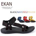 ショッピングストラップ エカン サンダル ストラップサンダル スポサン EKAN メンズ レディース PASSAU パッサウ 4色 EKAN-2001 シューズ