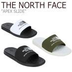 ノースフェイス スリッパ THE NORTH FACE メンズ レディース APEX SLIDE エイペックス スライド WHITE BLACK KHAKI NS98J09A/B/C NS98K09K シューズの画像