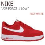 ショッピングAIR NIKE AIR FORCE 1 LOW Red White ナイキ エアフォース1 820266-601