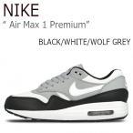 ショッピングNIKE NIKE AIR MAX 1 PREMIUM Black White Wolf Grey ナイキ エアマックス1 454746-011 シューズ