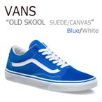 ショッピングVANS VANS OLD SKOOL SUEDE CANVAS Imperial Blue True White バンズ オールドスクール VN0A38G1MWG