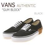 ショッピングemu バンズ オーセンティック スニーカー VANS メンズ レディース AUTHENTIC GUM BLOCK ガム ブロック BLACK ブラック VN0A38EMU57 シューズ
