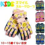 スマイルデザイン スキーグローブ 子供用 キッズ ジュニアサイズ 防寒 男の子 女の子 手袋 5本指タイプ