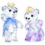 スワロフスキー(SWAROVSKI)Krisベア Prince & Princess/プリンスとプリンセステディベアのクリスタルオブジェ/Kris Bear/スワロフスキー社製置物