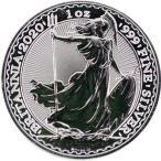 イギリス ブリタニア銀貨 純銀 最新2020年 1オンス 31.1g 38.61mm 新品未使用