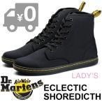 国内正規品 ドクターマーチン DR.MARTENS 7ホール キャンバス レースアップブーツ 靴 スニーカー シューズ レディース ECLECTIC SHOREDICTH BLACK