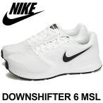 ナイキ ダウンシフター 6MSL スニーカー ランニングシューズ メンズ ホワイトブラック NIKE DOWNSHIFTER 6 MSL 684658-100 送料無料