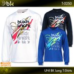 ブラックナイト バドミントン BK ロングTシャツ T-0250 ユニ 男女兼用 ロングスリーブTシャツ テニス Tシャツ 長袖 black knight