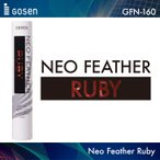 ゴーセン:GOSEN NEO FEATHER RUBY  ネオフェザールビー  GFN-160 練習球 1ダース