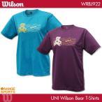 ウイルソン ウイルソンベア Tシャツ WRBJ922 専門店会オリジナル 男女兼用 Tシャツ バドミントンTシャツ 専門店会限定商品 Wilson