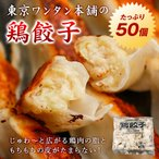 餃子 鶏餃子 50個入り 約500g 送料無料 取り寄せ 東京ワンタン本舗 業務用 お試し グルメ ぎょうざ ギョーザ ギョウザ 冷凍 プレゼント ギフト