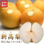 梨 送料無料 新高梨 約2.5kg 4〜5玉 なし ナシ フルーツ  (gn)