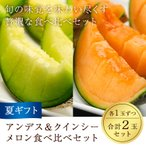 ギフト 送料無料 フルーツ 果物 アンデス&クインシーのメロン食べ比べセット