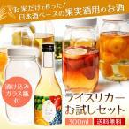 送料無料 梅酒・果実酒用 ライスリカー 20% 300ml 果実酒用瓶付お試しセット 日本酒 数量限定