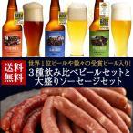 送料無料 ビール 奇跡のビール 八ヶ岳ビールタッチダウン 3種3本&大盛ソーセージ ギフト 贈り物