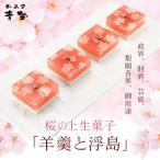 羊羹 麻布青野総本舗 桜の上生菓子(羊羹と浮島)(az)
