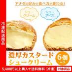 シュークリーム 濃厚カスタードシュークリーム6個入り シューアイス(4000円以上まとめ買いで送料無料対象商品) (lf)