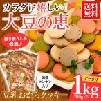クッキー 送料無料 豆乳おからクッキー1kg(200g×5袋) 蒟蒻マンナン入り お試し ダイエット 置き換え
