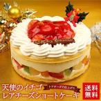 クリスマスケーキ 2018 送料無料 ショートケーキ 天使のイチゴレアチーズショートケーキ5号サイズ お取り寄せ ギフト プレゼント 予約