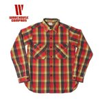 WAREHOUSE|ウエアハウス セルビッチフランネルワークシャツ(NON WASH) FLANNEL SHIRT D柄 3104D