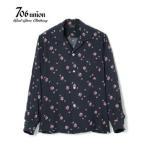 706union 長袖シャツ|レーヨンオープンカラーシャツ SPIDER WEB L/S OPEN SHIRT 831