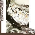 複製画120cm×170cm(額無し) 富岡鉄斎 全8種 トロピカル製
