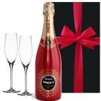 結婚祝い プレゼント おしゃれな高級シャンパンとペアグラスセット