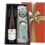 ワインとチョコレートのセット ドイツの白ワイン ゲヴュルツトラミネールと クリスマスチョコレート オーナメント付